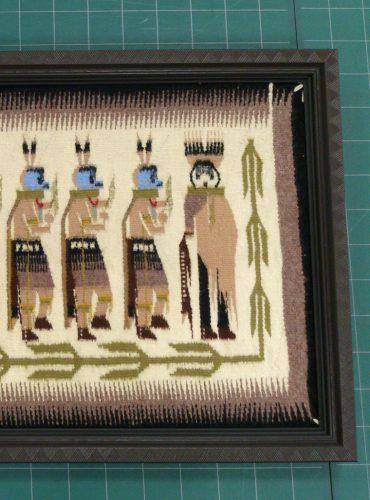 ナバホインディアンの絨毯額装