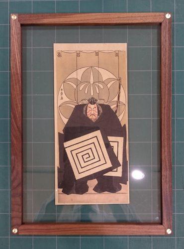 木版画をモダンなフレームに額装